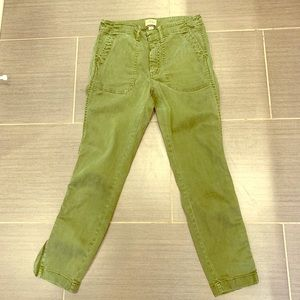 J. Crew green cargo pants in size 2P
